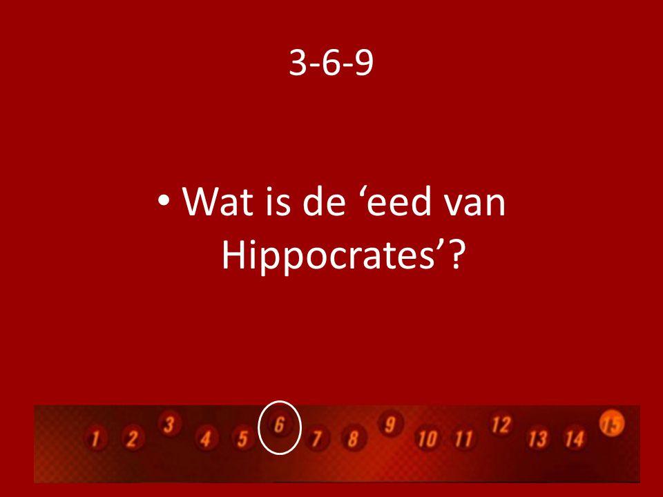 Wat is de 'eed van Hippocrates'