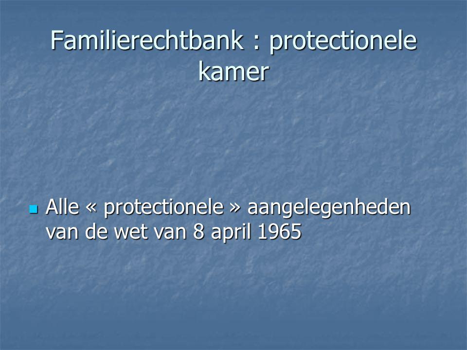 Familierechtbank : protectionele kamer
