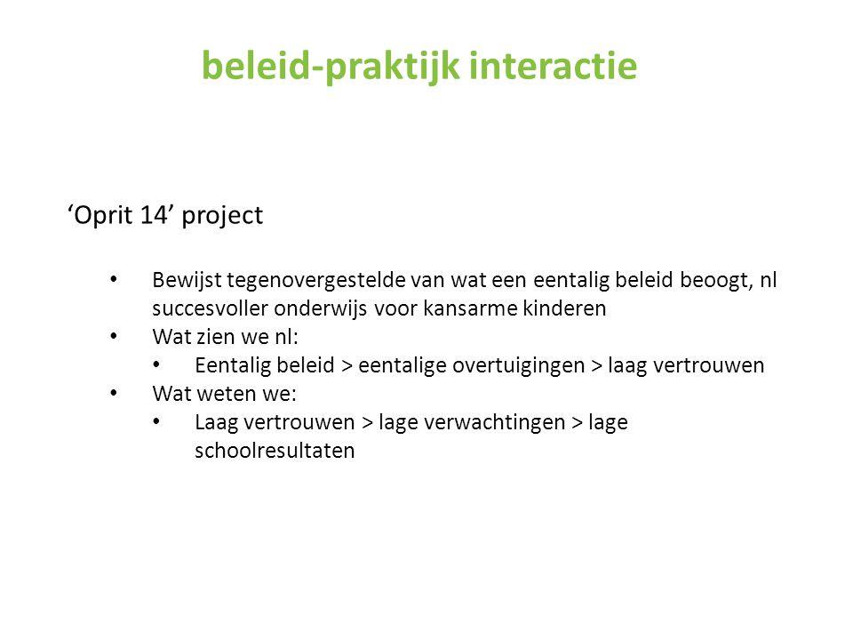 beleid-praktijk interactie