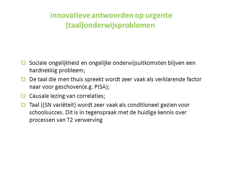 innovatieve antwoorden op urgente (taal)onderwijsproblemen