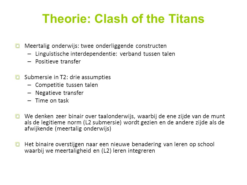 Theorie: Clash of the Titans