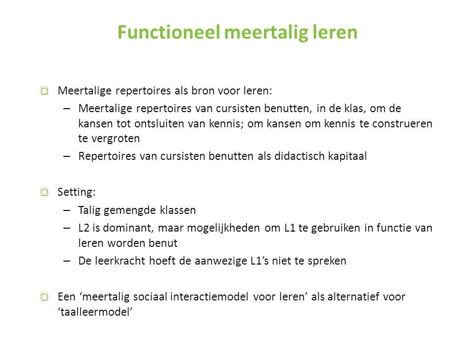 Functioneel meertalig leren