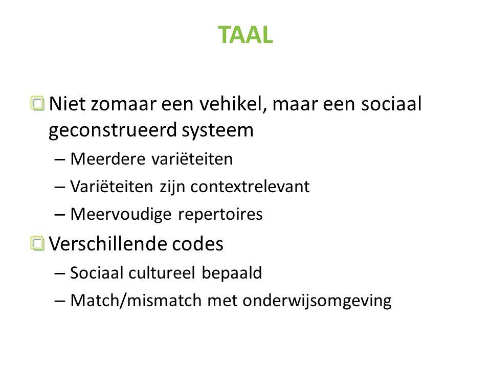 TAAL Niet zomaar een vehikel, maar een sociaal geconstrueerd systeem