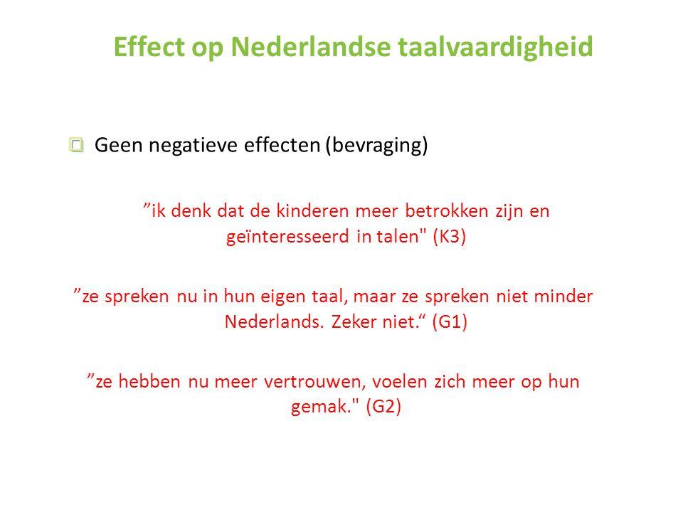 Effect op Nederlandse taalvaardigheid
