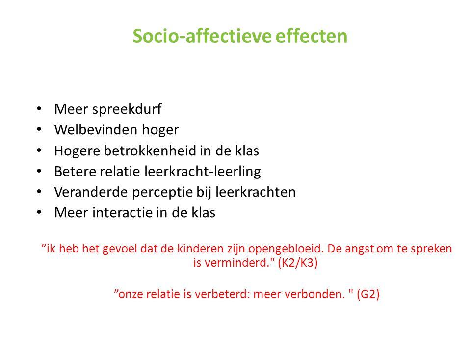Socio-affectieve effecten