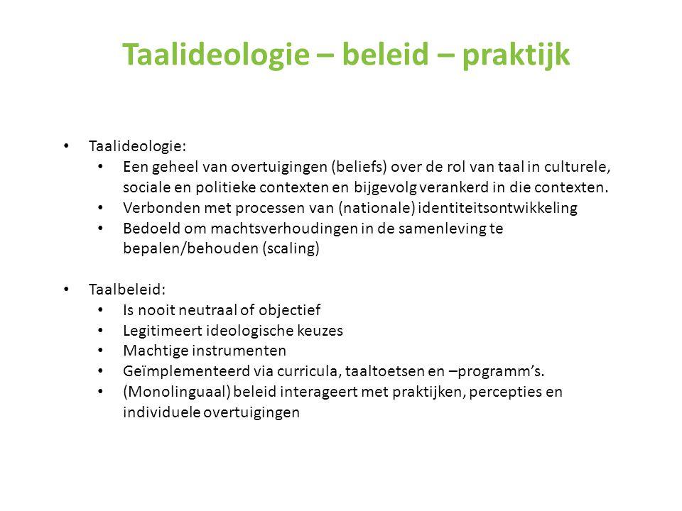 Taalideologie – beleid – praktijk