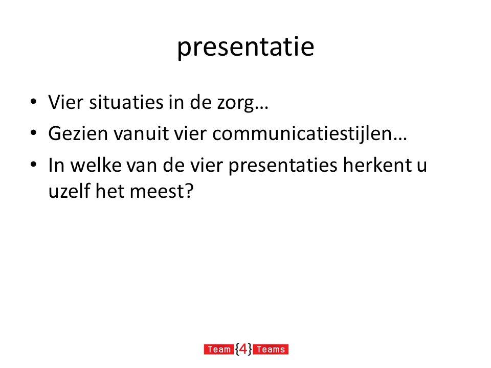 presentatie Vier situaties in de zorg…