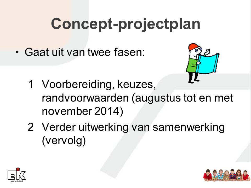Concept-projectplan Gaat uit van twee fasen: