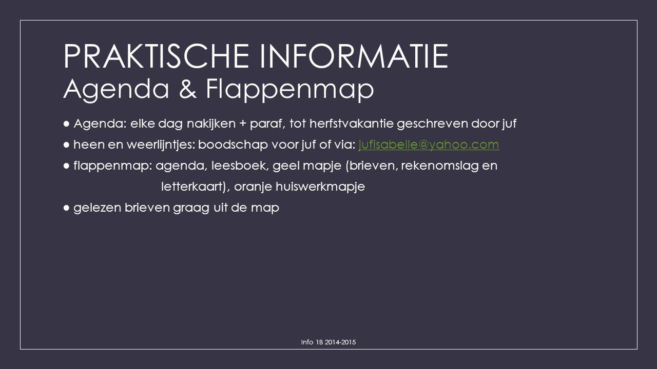 PRAKTISCHE INFORMATIE Agenda & Flappenmap