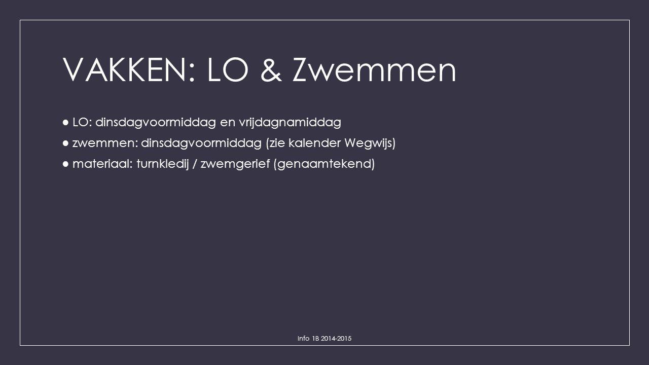 VAKKEN: LO & Zwemmen