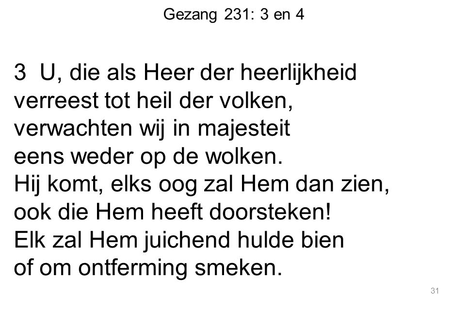 Gezang 231: 3 en 4