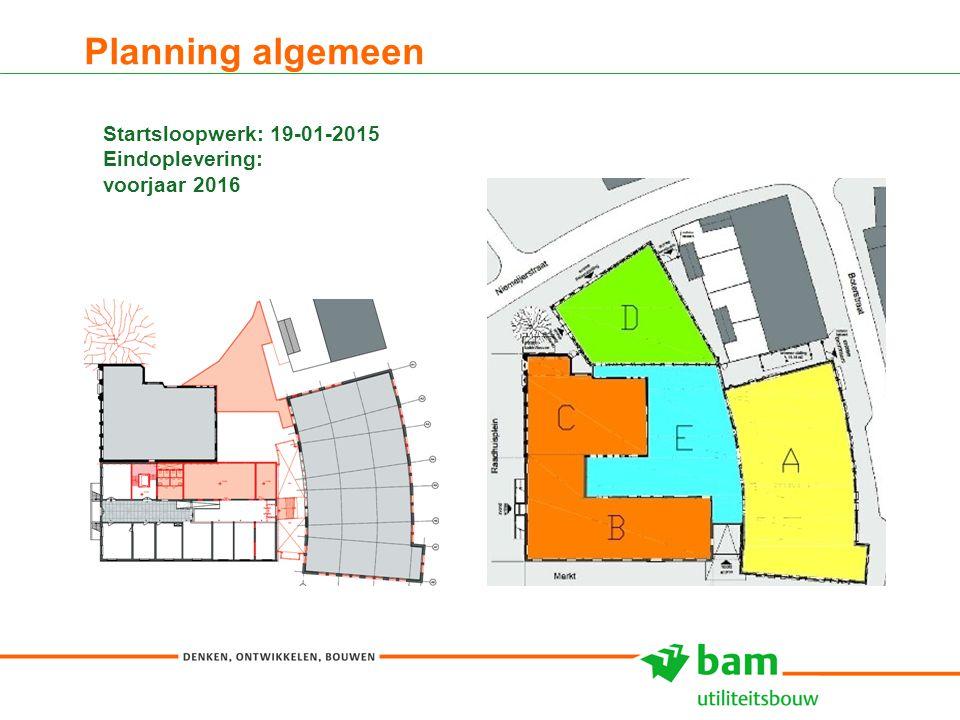 Planning algemeen Startsloopwerk: 19-01-2015 Eindoplevering: