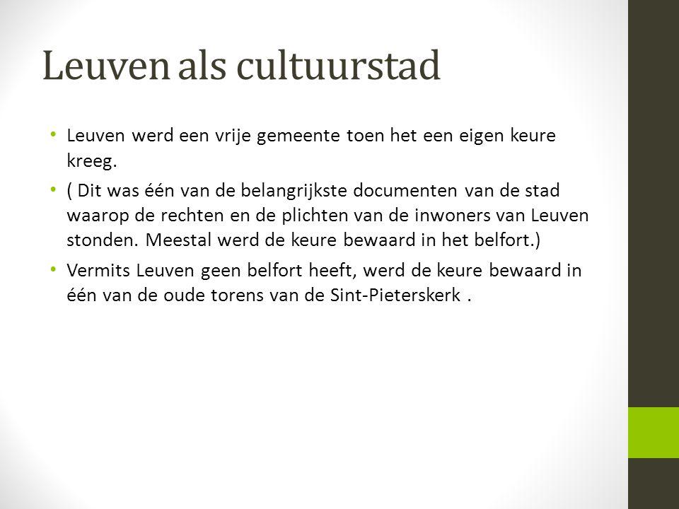 Leuven als cultuurstad