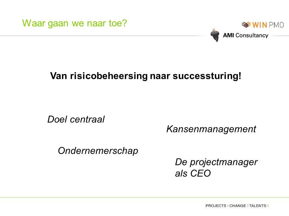 Van risicobeheersing naar successturing!