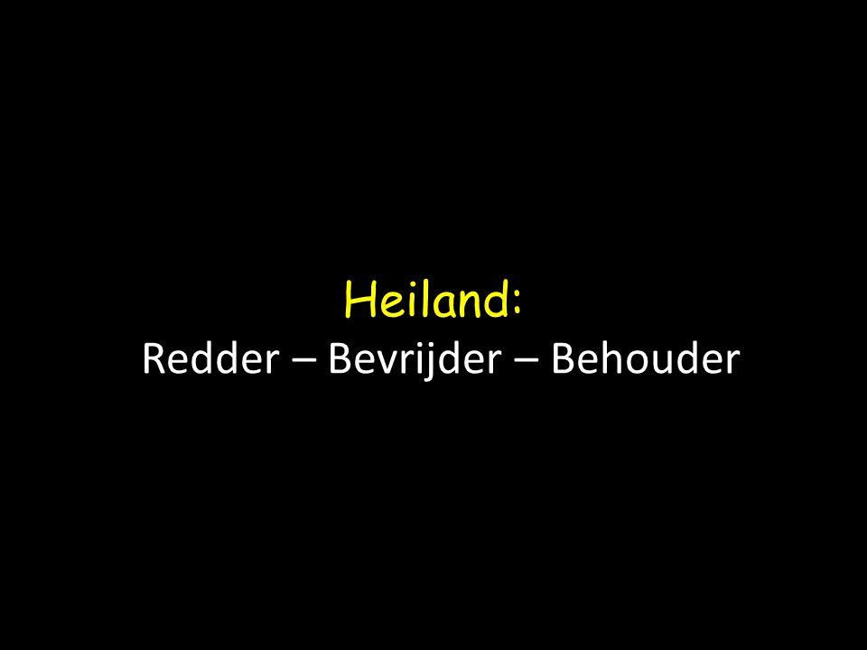 Heiland: Redder – Bevrijder – Behouder