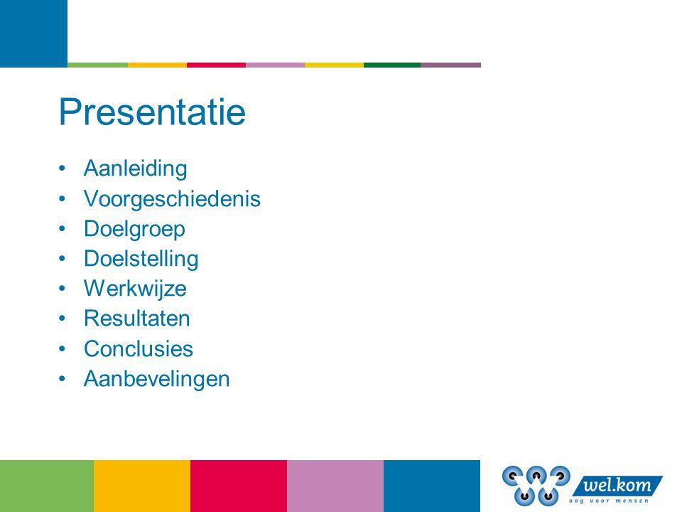Presentatie Aanleiding Voorgeschiedenis Doelgroep Doelstelling
