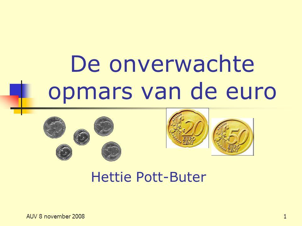 De onverwachte opmars van de euro