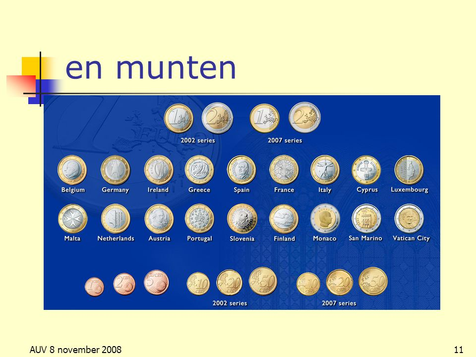 en munten AUV 8 november 2008