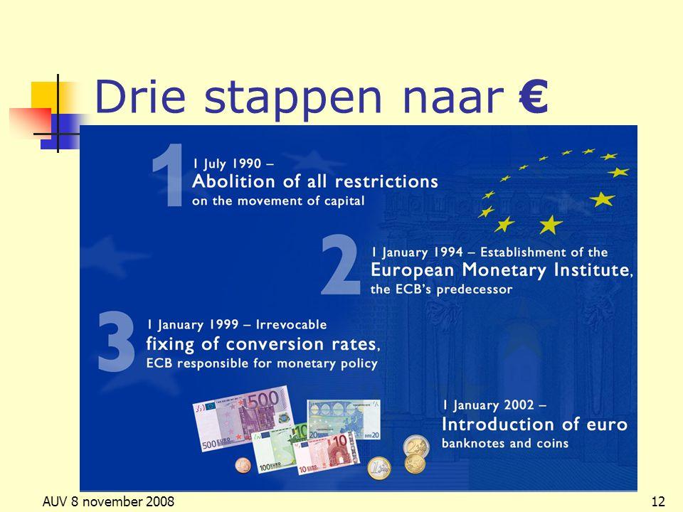 Drie stappen naar € AUV 8 november 2008