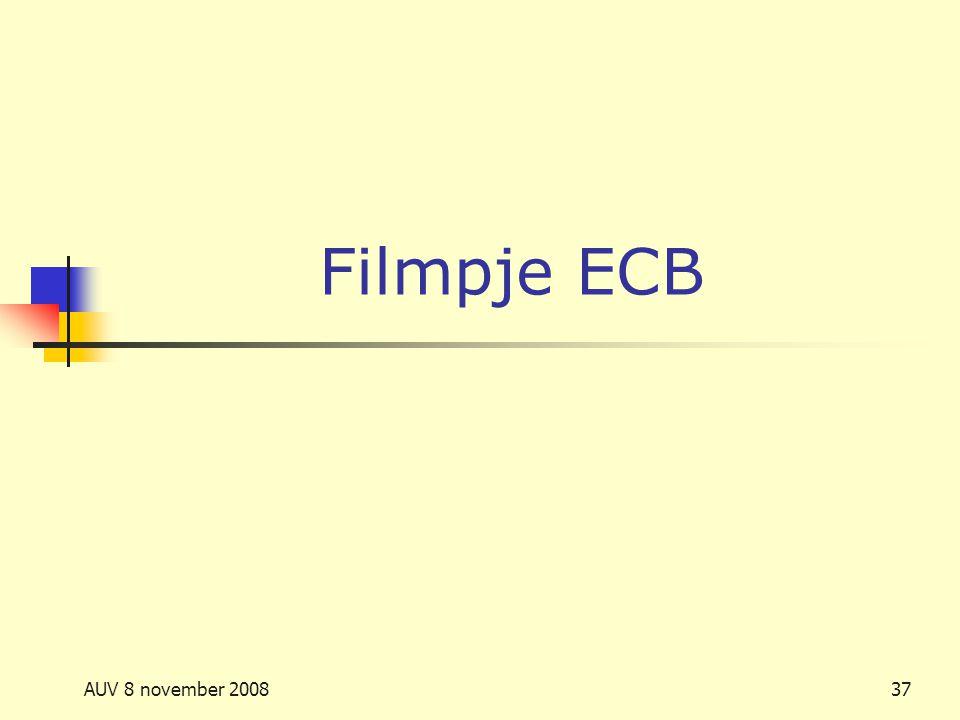 Filmpje ECB AUV 8 november 2008