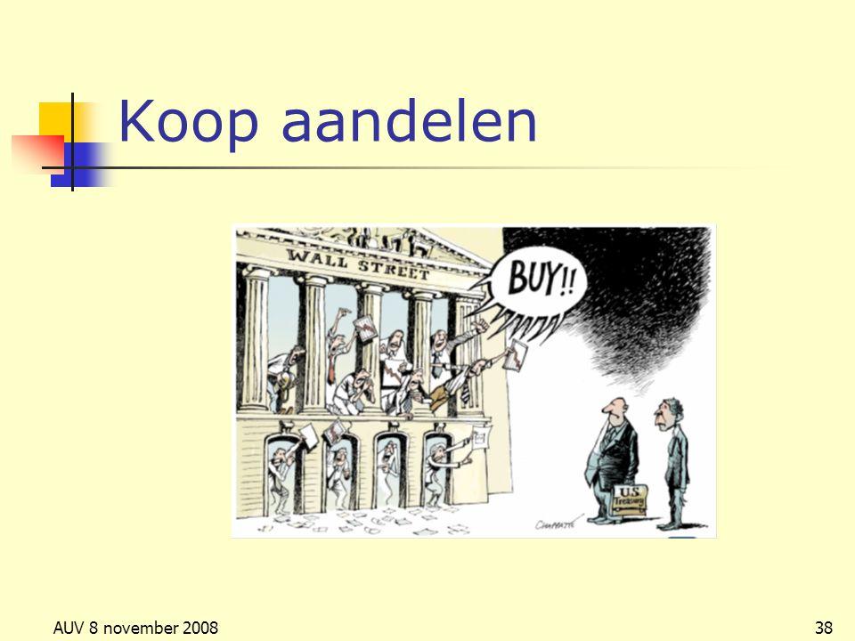 Koop aandelen AUV 8 november 2008