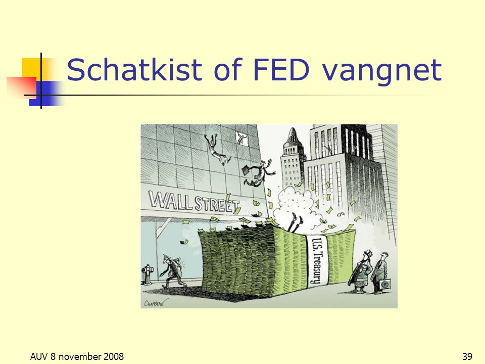 Schatkist of FED vangnet