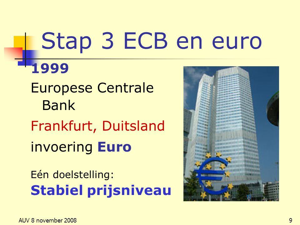 Stap 3 ECB en euro 1999 Europese Centrale Bank Frankfurt, Duitsland