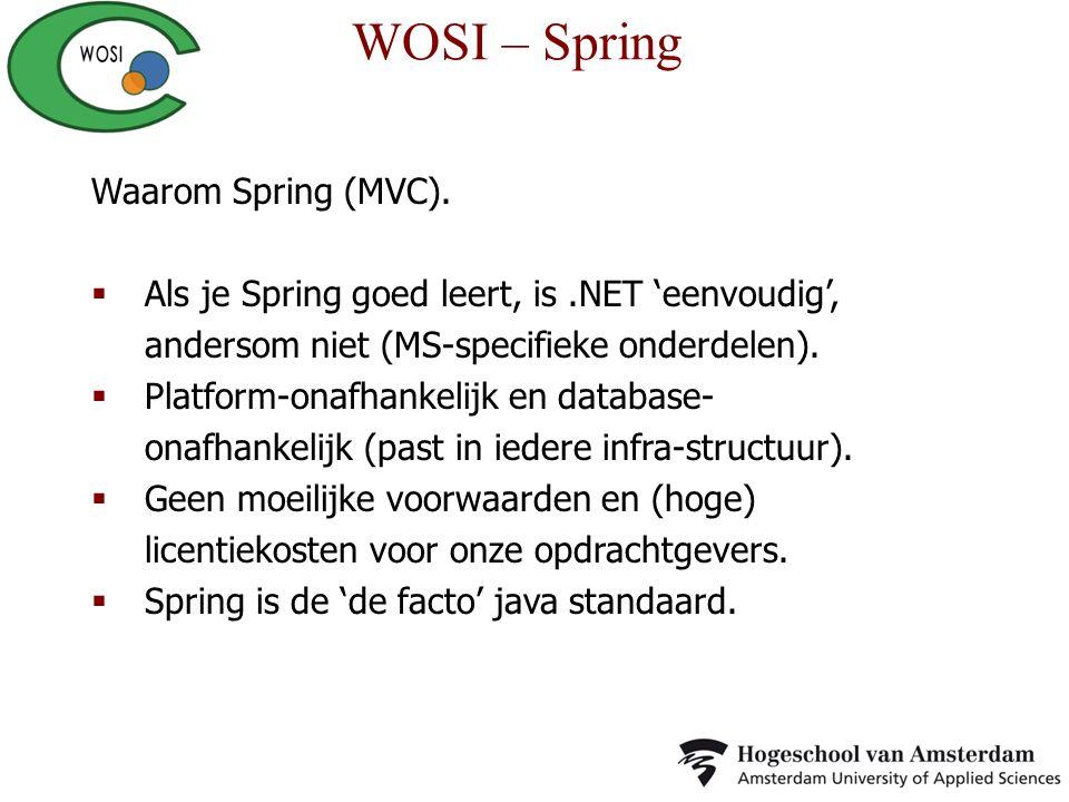 WOSI – Spring Waarom Spring (MVC).