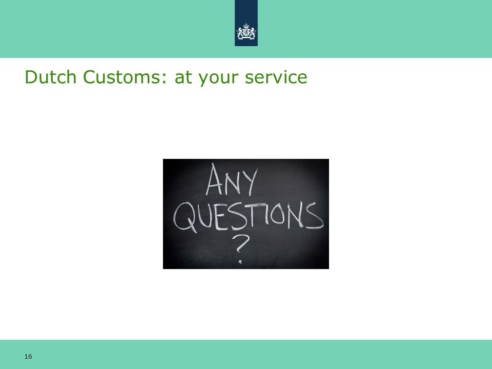 Dutch Customs: at your service