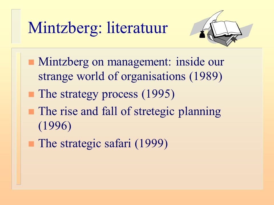 Mintzberg: literatuur