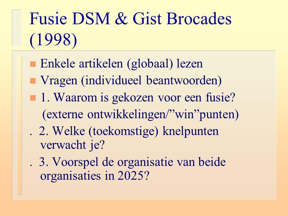 Fusie DSM & Gist Brocades (1998)