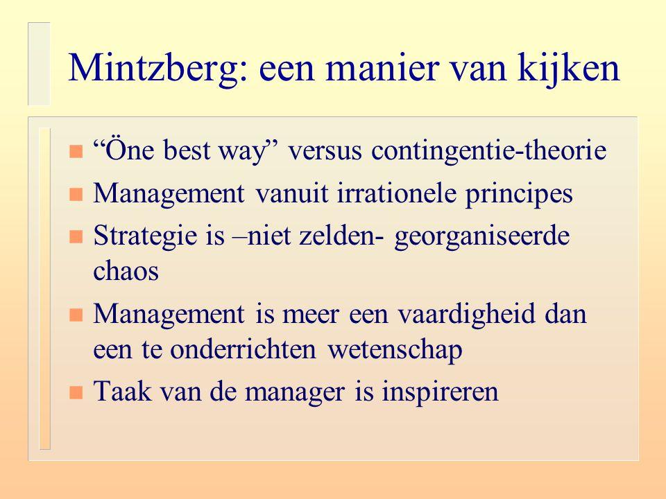 Mintzberg: een manier van kijken