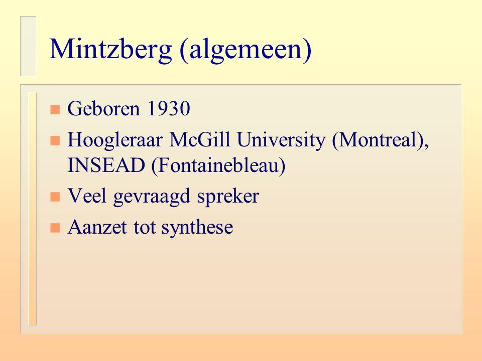 Mintzberg (algemeen) Geboren 1930