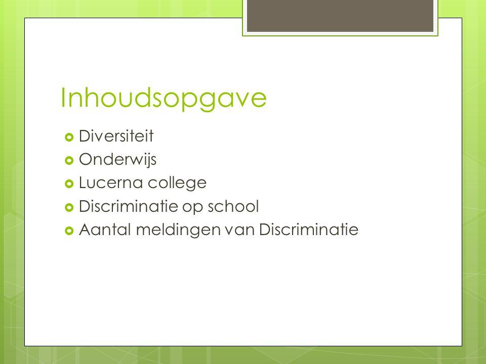 Inhoudsopgave Diversiteit Onderwijs Lucerna college