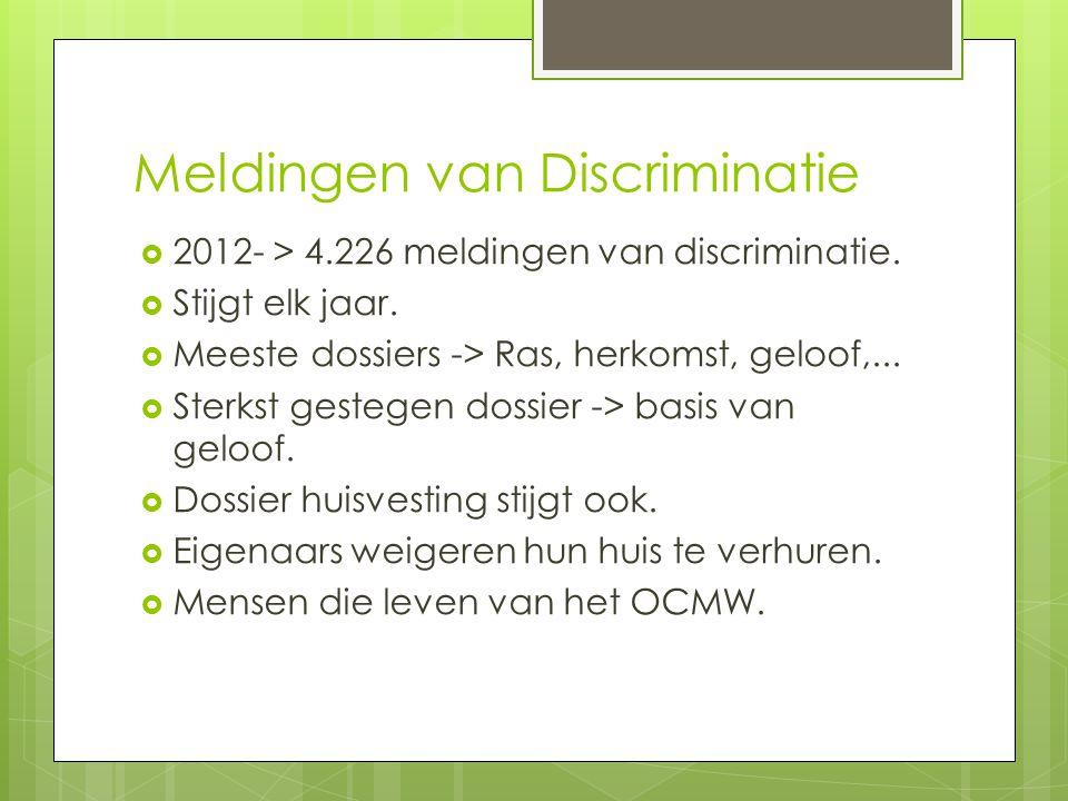 Meldingen van Discriminatie