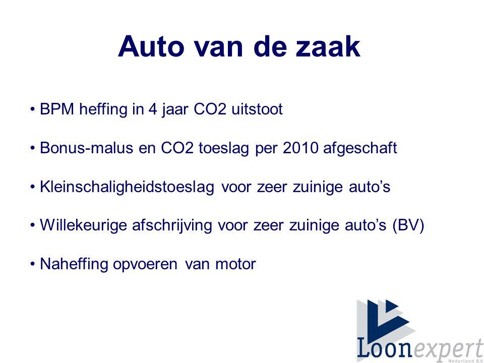 Auto van de zaak • BPM heffing in 4 jaar CO2 uitstoot