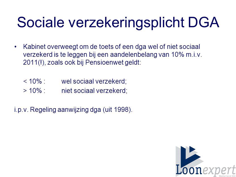 Sociale verzekeringsplicht DGA