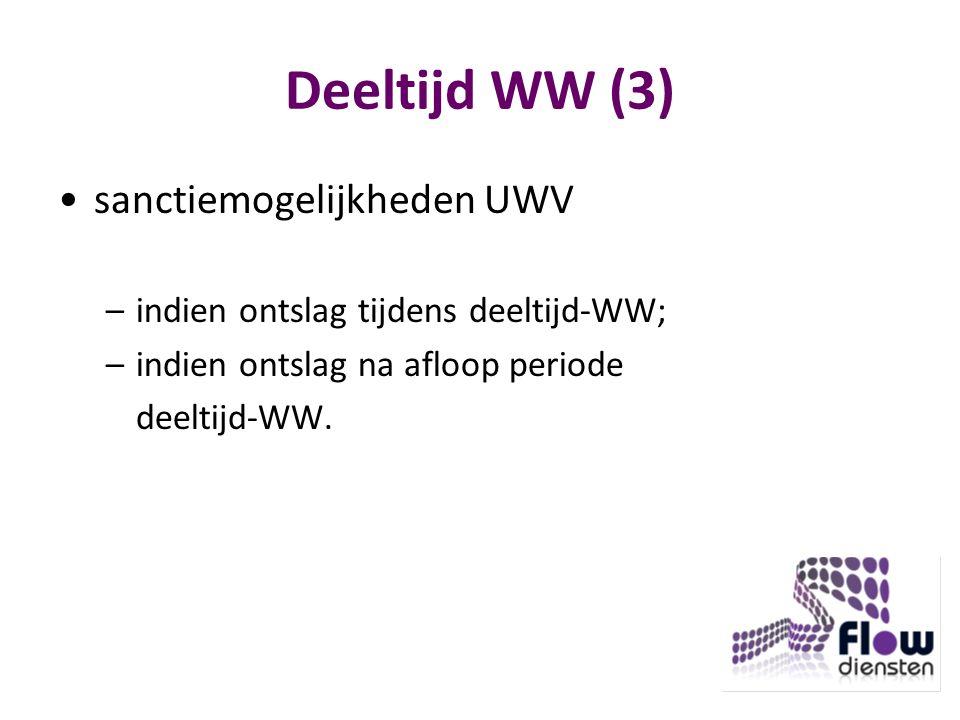 Deeltijd WW (3) sanctiemogelijkheden UWV