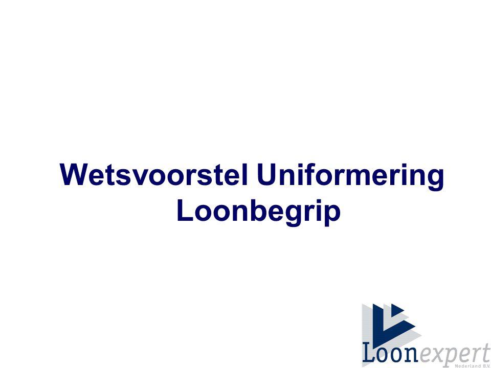 Wetsvoorstel Uniformering Loonbegrip
