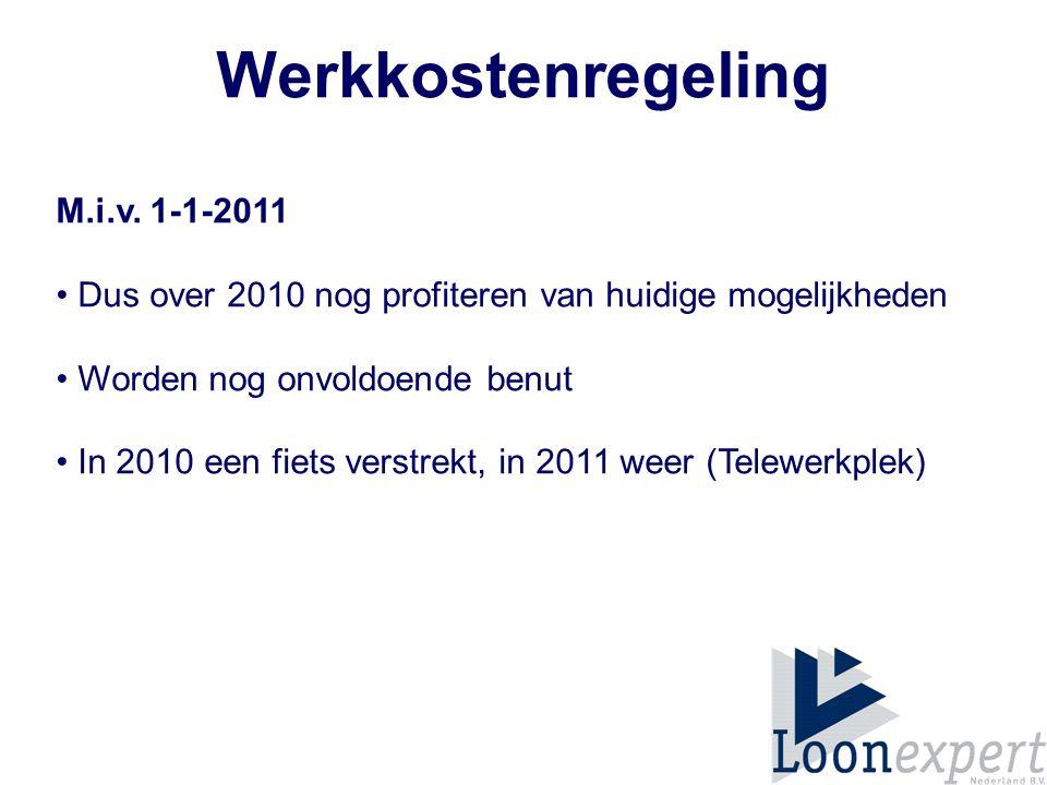 Werkkostenregeling M.i.v. 1-1-2011