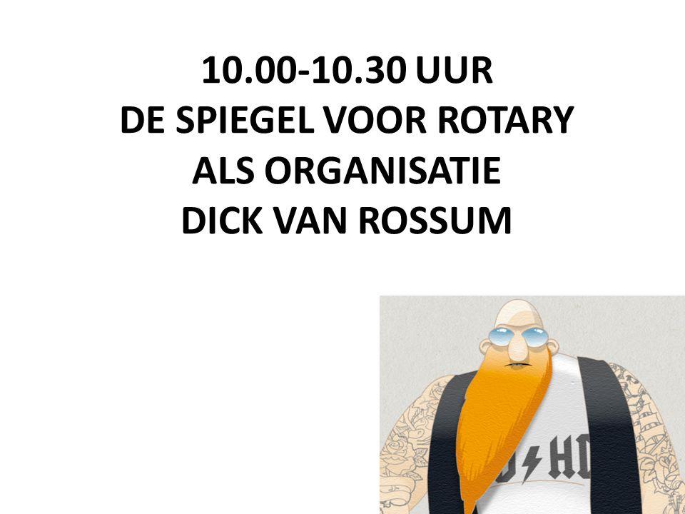 10.00-10.30 UUR DE SPIEGEL VOOR ROTARY ALS ORGANISATIE DICK VAN ROSSUM