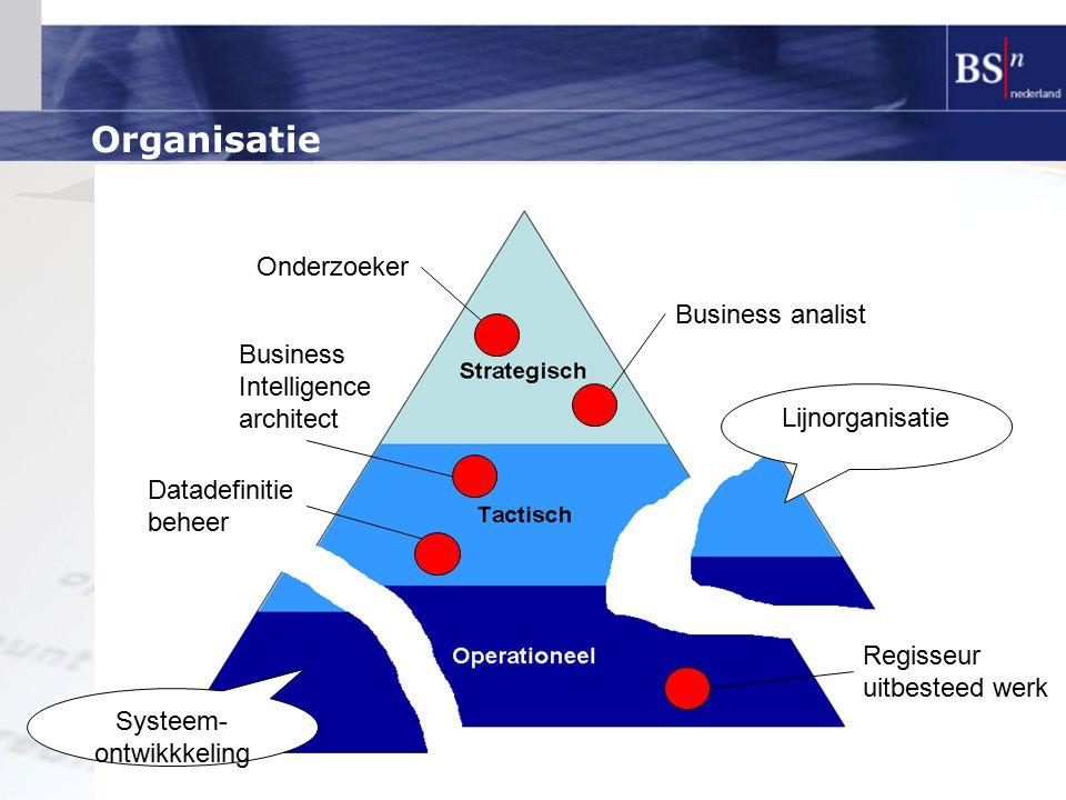 Organisatie Business intelligence Onderzoeker Business analist