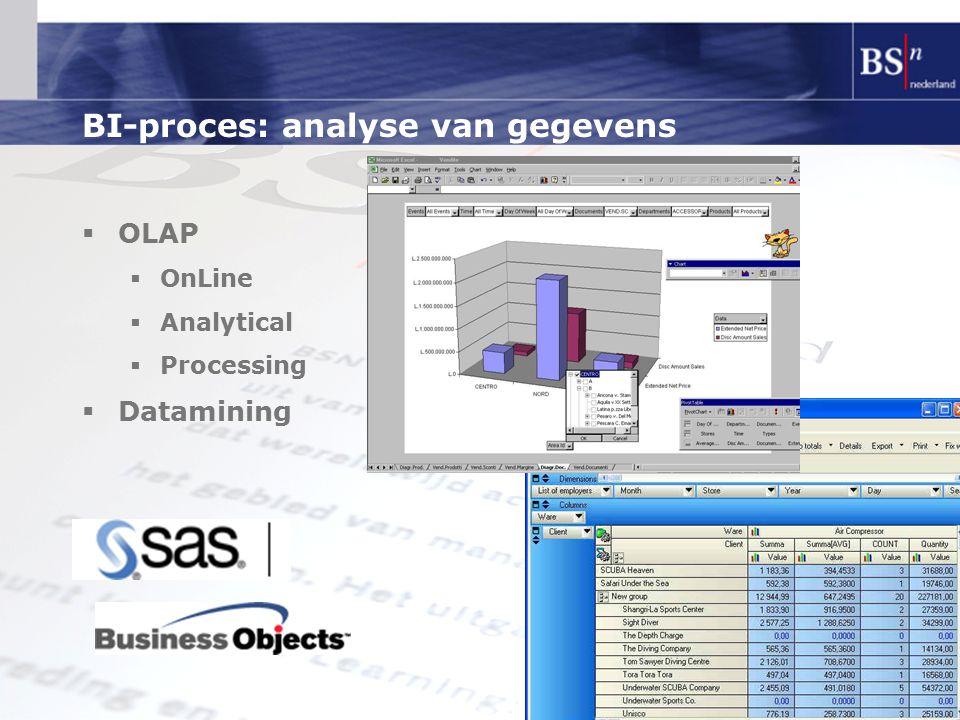 BI-proces: analyse van gegevens
