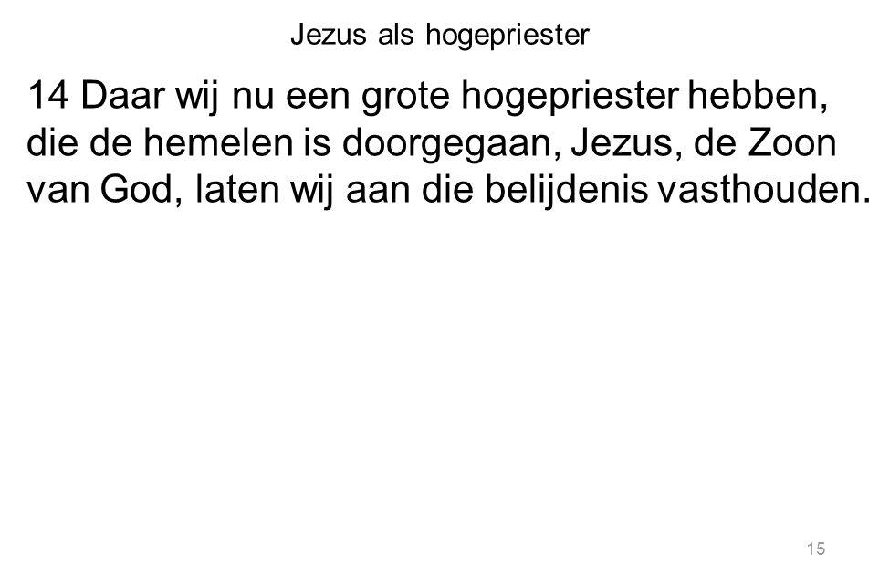 Jezus als hogepriester