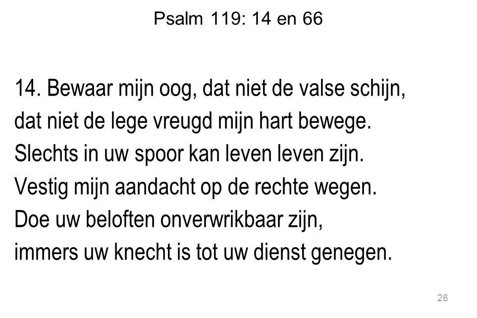 Psalm 119: 14 en 66