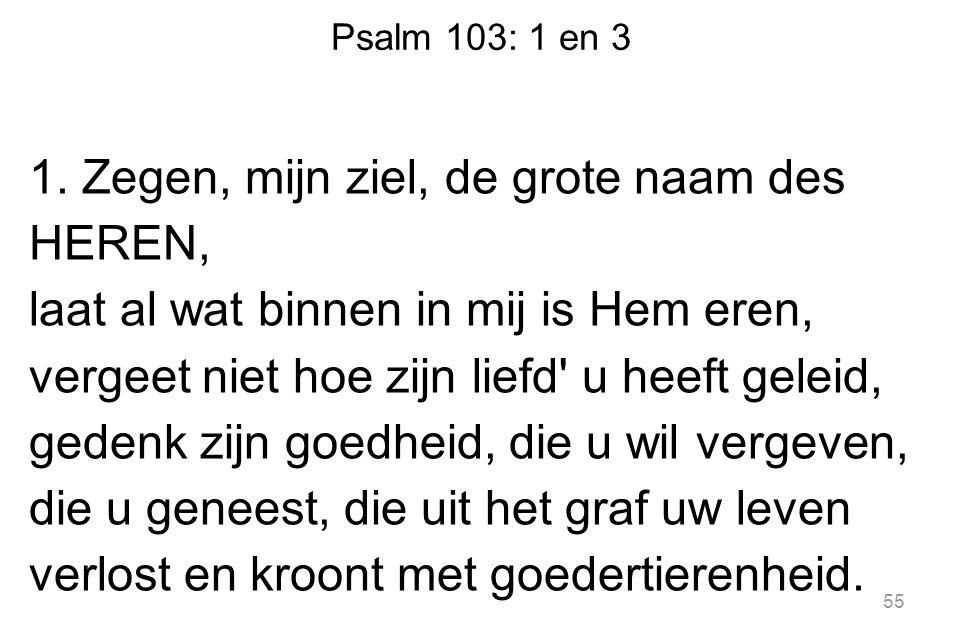 Psalm 103: 1 en 3