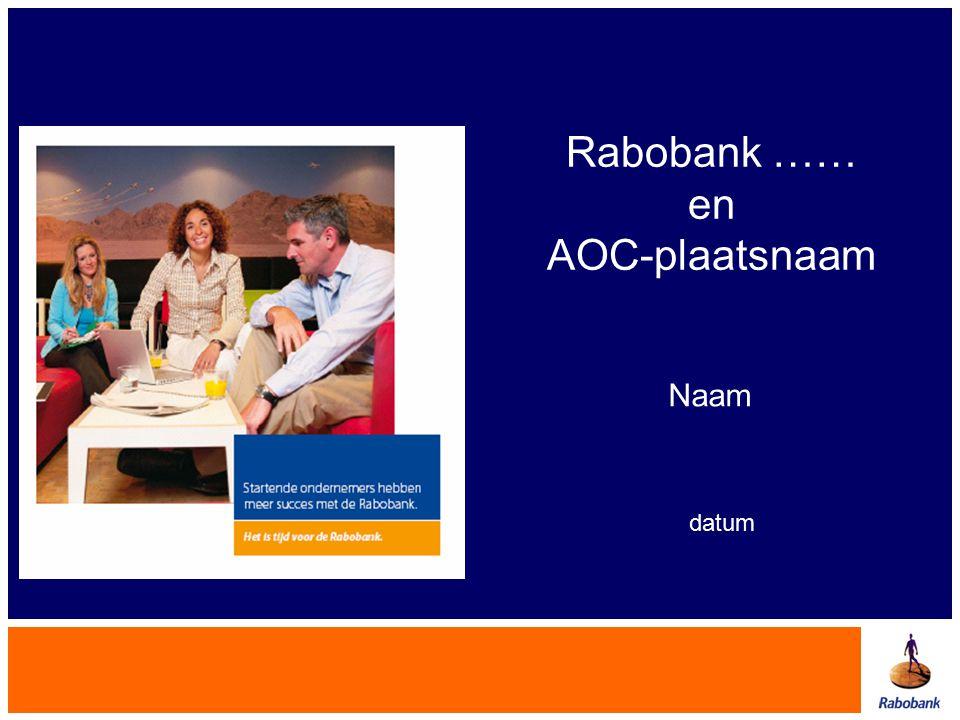 Rabobank …… en AOC-plaatsnaam