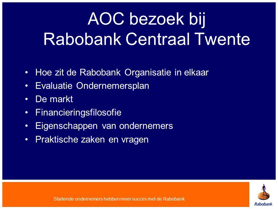 AOC bezoek bij Rabobank Centraal Twente