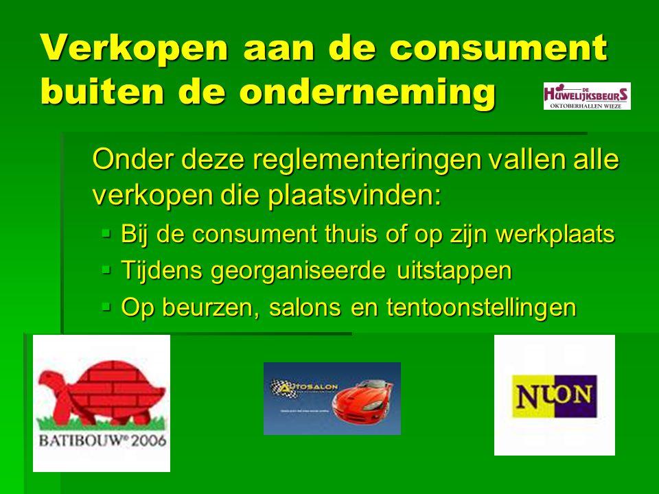 Verkopen aan de consument buiten de onderneming