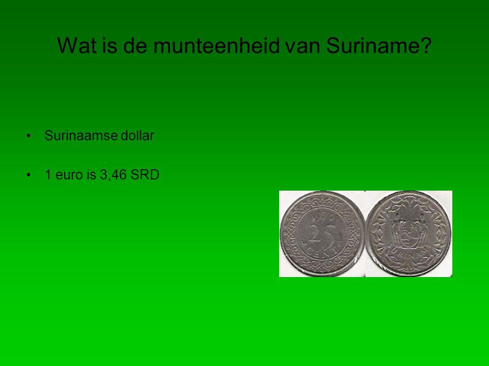 Wat is de munteenheid van Suriname